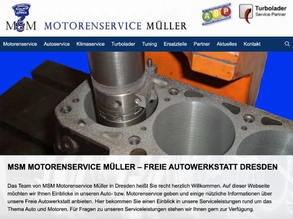 Homepage erstellt für Autowerkstatt Dresden