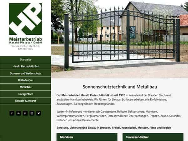 Homepage erstellt für Handwerker