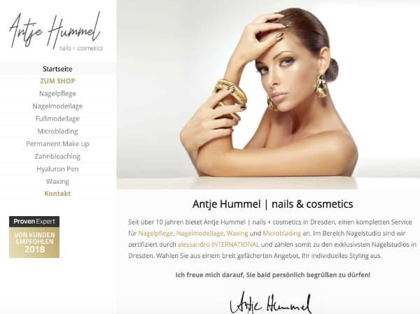 Homepage Erstellung für Friseur und Kosmetik