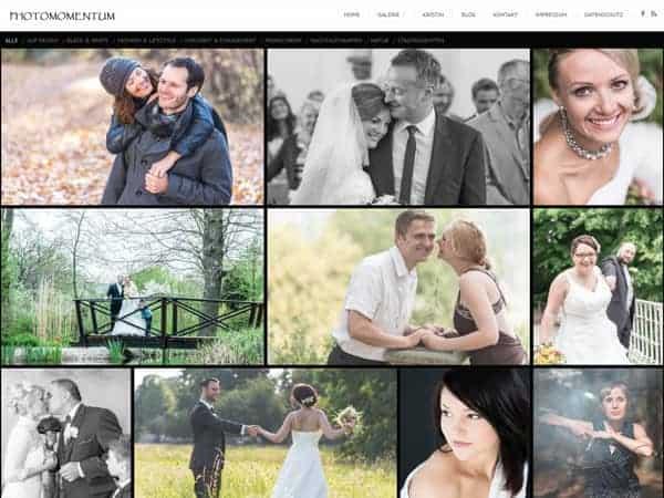 Homepage erstellt für Fotografen